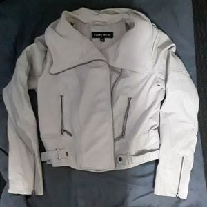Blanc Noir Leather and fabric jacket